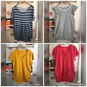 Tops - Bundle of 4 maternity tops